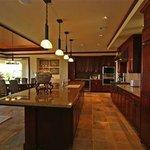 chef's kitchen in private villa