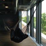 hammocks at reception