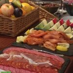 Continental breakfast buffet (hot dishes to order)