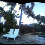 Panorama of pool deck