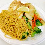 Tilapia Fish with Vegetable and Noodle