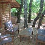 terrasse et son spa privatif