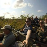 Out on game drive with Paddy and crew