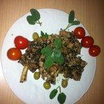 agnello tartufato in versione primaverile
