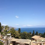 View from the room, toward Calabria