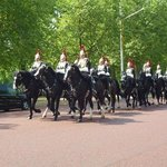 Getting ready for changing of the horse guard
