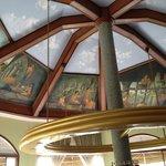 Breakfast room ceiling