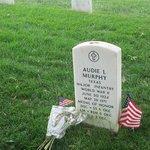 Audie Murphy's headstone