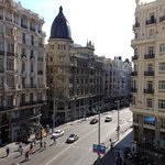 view from the Gran Via Corner room