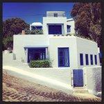 Villa bleue depuis l extérieur