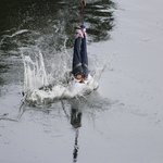 Nothing more exciting in bungee than an water touch jump.