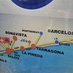 Расположение Ла Пинеды и ближайшие города