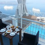 Breakfast on private patio