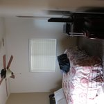 "One view of ""luxury"" bedroom."
