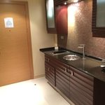 entrance to room - kitchenette area