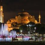 Hagia Sophia at night - 10 minute walk from Hotel