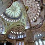 Interior shot of Blue Mosque near hotel