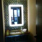 Coyote suite: half bathroom off the living room