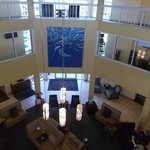 Lobby, wish I could have gotten a better picture of the art on the wall.