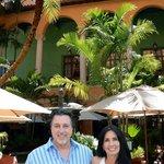 Rosario Cassata and Carolyn at The Courtyard at Fontana