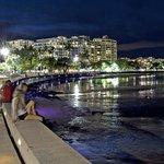 Cairns Esplanade by night