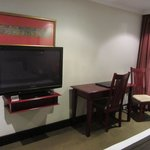 Panasonic TV and desk
