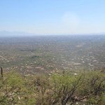 Looking at Tucson from the mountain