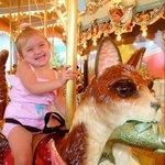 on the refurbished carousel