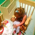nursing the doll :)