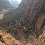The view from Angels Landing