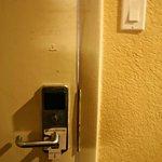 Door gaps...this door looks like it has been kicked in.