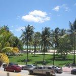 Vista da praia, no terraço do Hotel..