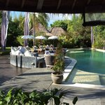 One of the (many) pools at Villa Mathis, this one at the bar/restaurant area
