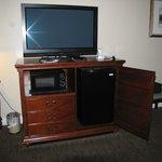 tv, microwave, refrigerator