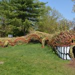 dragon as part of the children's area in the horticulture garden