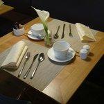 Mesa do café da manhã - requinte.
