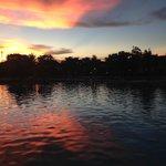 Sonnenuntergang vom Zimmerbalkon