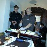 Preparation of the battuta al coltello