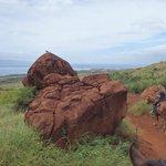Lava rock formation.