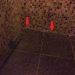 洗完澡,水已浸到第一格階磚