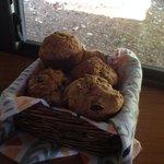 Fresh made zucchini muffins