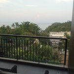 Our balcony with seaview