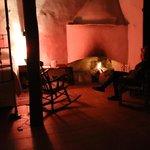 Cozy fire in room
