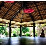 The yoga and meditation area