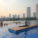 Infinity pool overlooking the Chao Phraya River