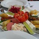 mezze sharing platter-love the cheese rolls!