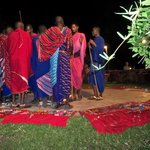 Masai dancing for us at dinner