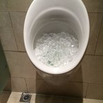 even toilets with ice-cubes!