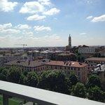 Blick vom Balkon Richtung Bergamo Neustadt