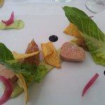 foie gras mi cuit  revisite assez surprenant non ,?